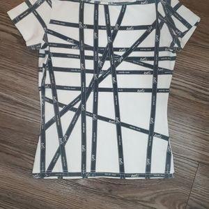 Hermes Paris SE Ribbon Top White Dark Grey